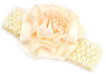 NeedyBee Hair Band - Satin Floral Applique