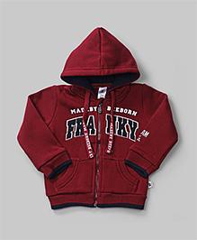 Maroon Franky Hoodie Jacket