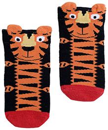 Mustang Ankle Length Socks - Tiger Print