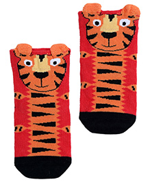 Mustang Ankle Length Socks - Tiger Print