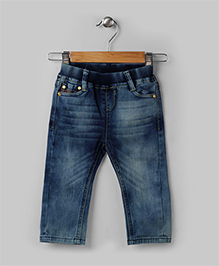 Blue Washed Casual Jeans