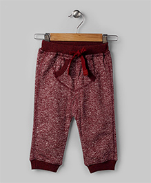 Maroon Casual Tweed Pants
