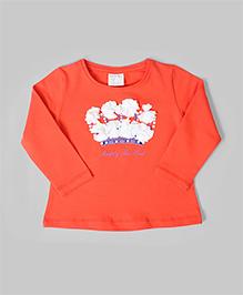 Orange Floral Inspiration Top