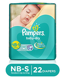 Pampers Baby Dry Diaper Newborn To Small - 22 Pieces