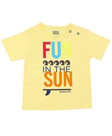 Wow Mom Fun Sun Infant T-Shirt  Slub Jersey - Light Yellow