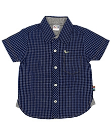 Wow Mom Shirt Half Sleeves - Navy