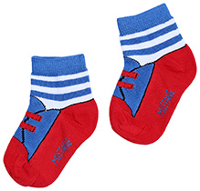 Mustang Ankle Length Socks - Lace Print