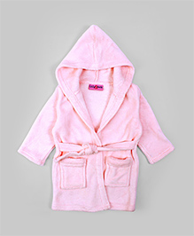 Light Pink Hooded Baby  Robe