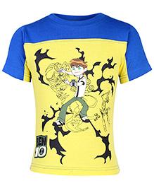 Ben 10 Half Sleeves Round Neck Printed T-Shirt