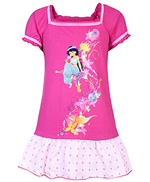 Disney Princess Half Sleeves Frock
