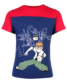 Ben 10 Half Sleeves Round Neck Printed T-Shirt