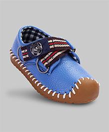 Bluebird Blue Faux Leather Shoes