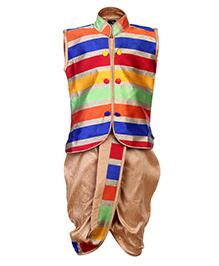 Babyhug Sleeveless Kurta And Dhoti Set - Stripe Prints