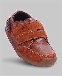Rustic Brown Faux Leather Shoes