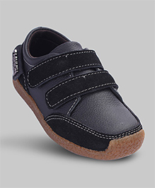 Smoky Black Faux Leather Shoes