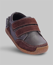 Walnut Brown Faux Leather Shoes