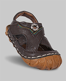 Branch Brown Faux Leather Sandals