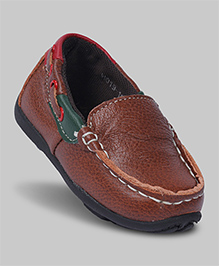 Rustic Brown Faux Leather Loafers