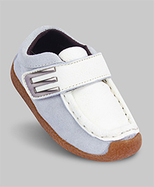 Cotton White Foot Friendly Faux Leather Loafers