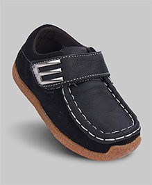 Black Supple Faux Leather Loafers
