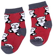 Mustang Socks Teddy Print - Maroon