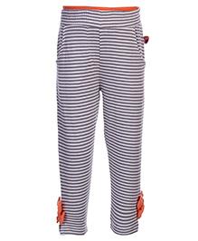 FS Mini Klub Legging - Stripes With Bow Applique