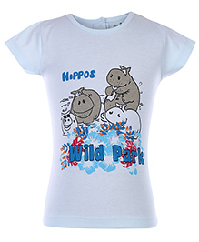 Babyhug T-Shirt Short Sleeves - Hippo Print