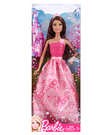 Barbie Doll Princess Dress Pink - Height 30 Cm - 3 Years +