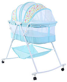 1st Step Bassinet Blue - Mulit Print