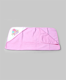 Pink Cotton Hooded Towel