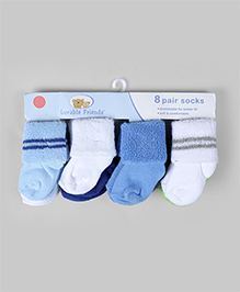 Multicolor Pair of 8 Comfy Socks