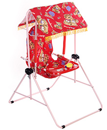 Infanto Rocko Swing Red - Bear Print