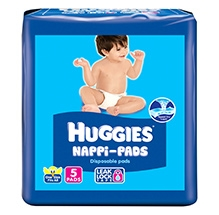 Huggies Nappi Pads - 5 Disposable Pads