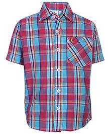 Babyhug Half Sleeve Shirt - Checks