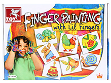 Toy Kraft Finger Painting - With Little Fingers