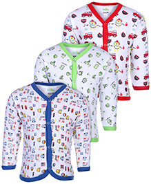 Babyhug Full Sleeves Vests - Set of 3