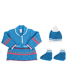 Babyhug Winter Wear Set - Pack Of 3
