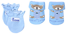 Babyhug Socks And Mittens Set - Blue