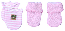 Babyhug Socks And Mittens Set - Light Pink
