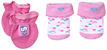 Babyhug Socks And Mittens Set - Pink