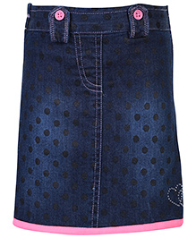 Babyhug Denim Skirt - Polka Dot Print