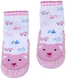 Babyhug Bootie Style Socks Pink - Rabbit Face