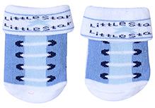 Babyhug Socks Printed - Blue And White