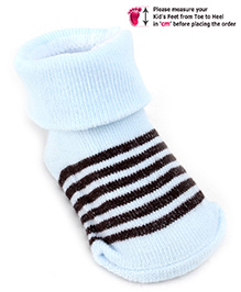 Babyhug Ankle Length Socks - Sky Blue