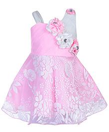 Babyhug Sleeveless Frock - Floral Applique