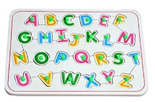Wood O Plast Alphabet Tray Set With Background Pictures - English