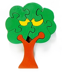 Wood O Plast Tree Jigsaw Puzzle Set - Brown