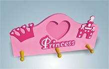 Wood O Plast Wall Hanger With Photo Frame - Princess Theme