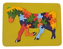 Wood O Plast Horse Raised Puzzle Tray - 26 Pieces