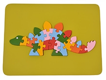 Wood O Plast Dinosauras Raised Puzzle Tray - 26 Pieces